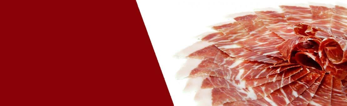 Acorn-fed Iberian ham, hand sliced